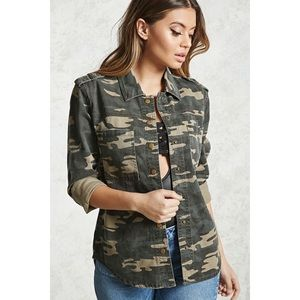 Forever 21 Camo Print Jacket w/ Accessories
